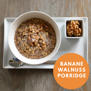 Banane Walnuss Porridge