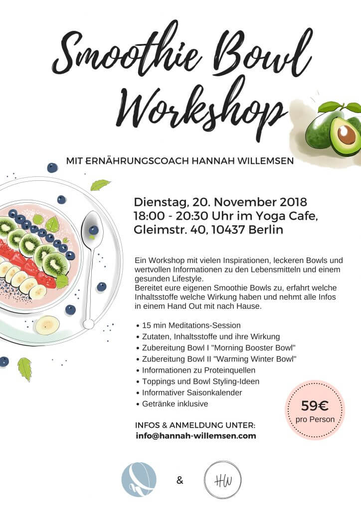 Smoothie Bowl Workshop Poster